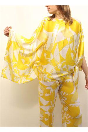 Tunica ampia in seta gialla Capri Chic | 5032233 | SILKTUNICGIALLO