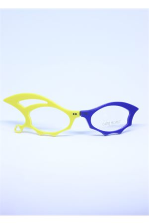 Yellow and blue folding reading glasses with prescription lenses Capri People | 53 | LUCIFERGIALLO