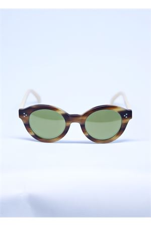 Brown sunglasses with green lenses Capri People | 53 | PIERMARRONE