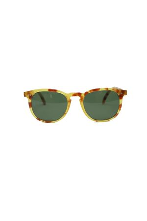 Handmade spotted green sunglasses Capri People | 53 | TIBERIO/2019MARRONE/MACULATO