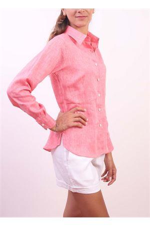 Camicia da donna in lino fucsia Colori Di Capri | 6 | CLASSICFRAGOLA
