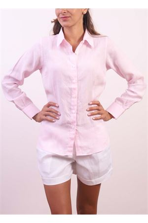 Camicia da donna in lino rosa Colori Di Capri | 6 | CLASSICHOLLYWOOD