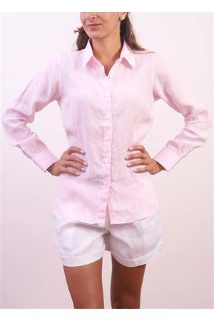 Pink linen shirt  Colori Di Capri | 6 | CLASSICHOLLYWOOD