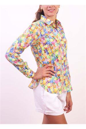 Camicia da donna con stampa di lecca-lecca Colori Di Capri | 6 | CLASSICLOLLYPOPS
