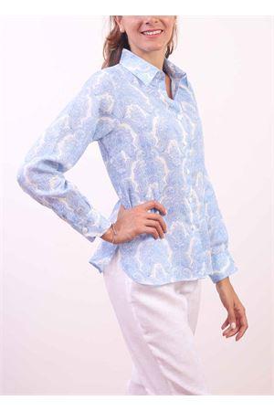 Camicia da donna 100% Lino stampa Cachemire Colori Di Capri | 6 | CLASSICPRASLEY