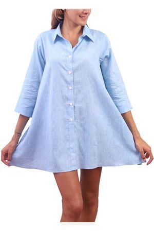 Camicia in lino azzurro modello ampio Colori Di Capri | 6 | COMFORTAZZURRO