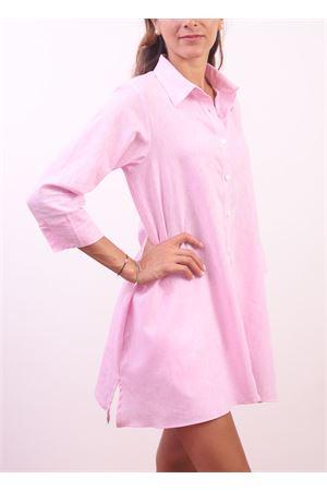 Camicia da donna ampia  in lino rosa Colori Di Capri | 6 | COMFORTROSA