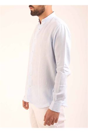 Linen shirt man with mandarin collar Colori Di Capri | 6 | COREANACIELO