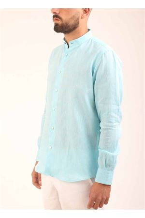 100% Linen shirt for men with mandarin collar Colori Di Capri | 6 | COREANATURCHESE