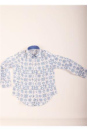 Majolica tiles pattern baby boy shirt  Colori Di Capri | 6 | MAJOLICASHIRTBABYAZZURRA