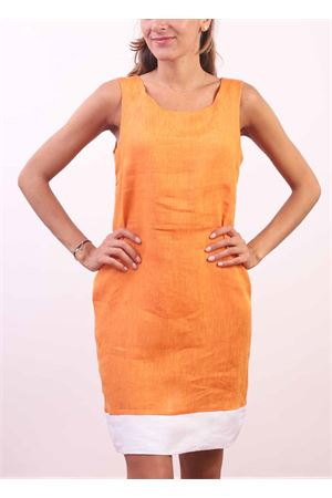 Orange linen sheath dress Colori Di Capri | 5032262 | PIGNAARANCIO