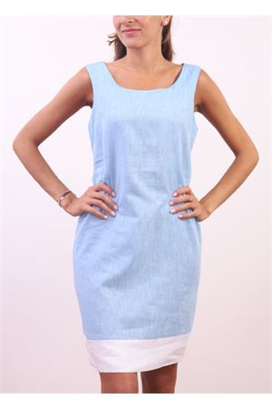 Sheath light blue linen dress  Colori Di Capri | 5032262 | PIGNAAZZURRO