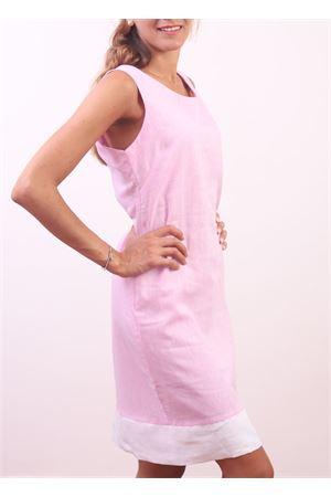 Tubino rosa classico in lino Colori Di Capri | 5032262 | PIGNAROSA