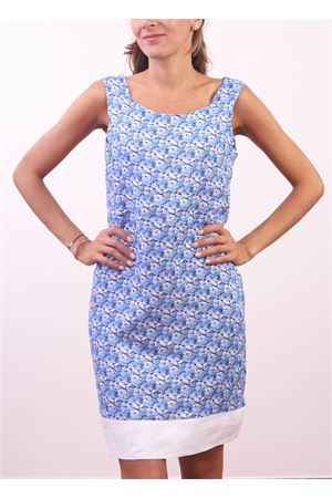 Blue stones pattern sheath dress  Colori Di Capri | 5032262 | PIGNASASSI