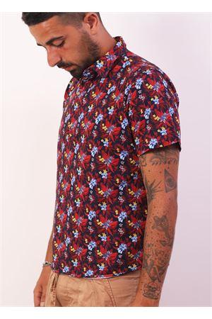 Floral polo shirt in cotton  Colori Di Capri | 8 | POLOMANFROSSO