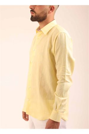 Yellow linen shirt for men  Colori Di Capri | 6 | REGULARLEMON