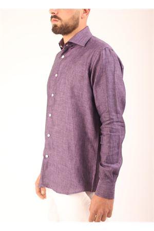 Camicia in lino viola Colori Di Capri | 6 | REGULARMELENZANA