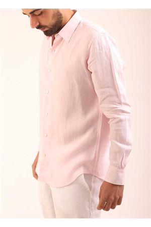 Pink linen shirt for men  Colori Di Capri | 6 | REGULARROSA