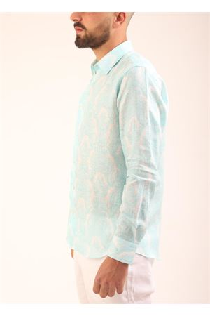 Tiffay green linen shirt for men  Colori Di Capri | 6 | REGULARTIFFANY