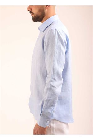 Light blue linen shirt  Colori Di Capri | 6 | SLIMFITCIELO