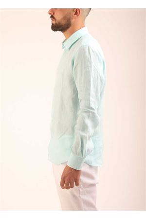 Green linen shirt for men  Colori Di Capri | 6 | SLIMFITTIFFANY
