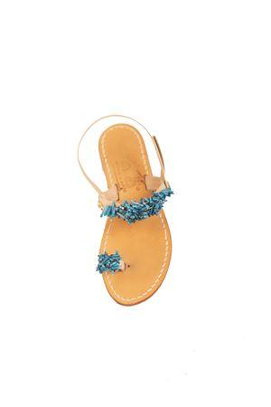 Cuccurullo Capri sandals with blue corals  Cuccurullo | 5032256 | CUCCORALDITOAZZURRO