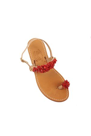 Capri sandals with red corals  Cuccurullo | 5032256 | CUCCORALDITOROSSO