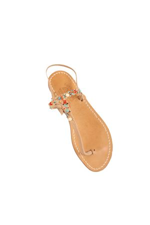 Jeweled Capri sandals  Cuccurullo | 5032256 | CUCCORIANDERBEIGE