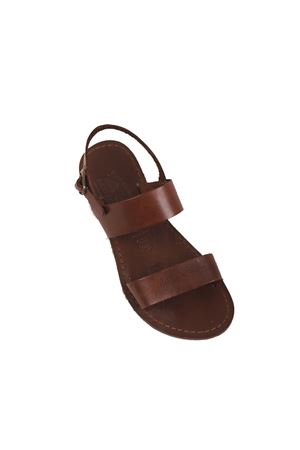 Brown sandals with large leather bands  Cuccurullo | 5032256 | CUCDOPPIAFASCIAMARRONE