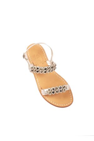 Jeweled Capri sandals non flip flop model  Cuccurullo | 5032256 | CUCJEWELFASCEARGENTO