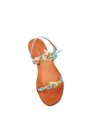 Capri sandals with shells  Cuccurullo | 5032256 | CUCMAREFASCEAZZURRO