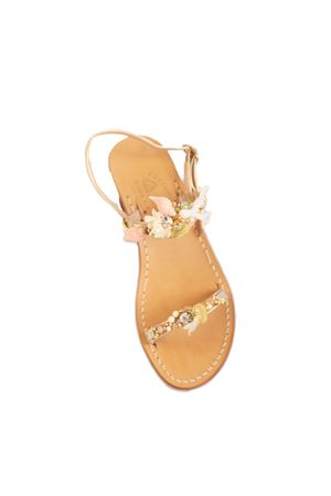 Golden Capri sandals with shells Cuccurullo | 5032256 | CUCMAREFASCEORO