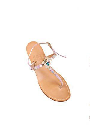 Sandali gioiello lilla con zeppa Cuccurullo | 5032256 | CUCSTONEWEDGELILLA