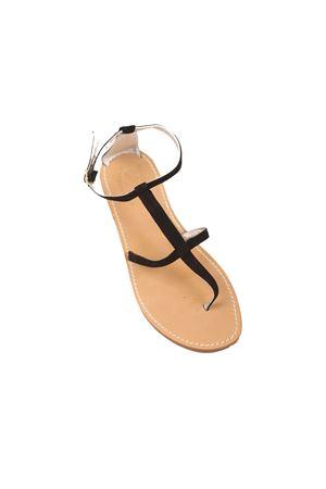 Sandali Capri neri in camoscio alti alla caviglia Cuccurullo | 5032256 | CUCSUEDESPIDERNERO