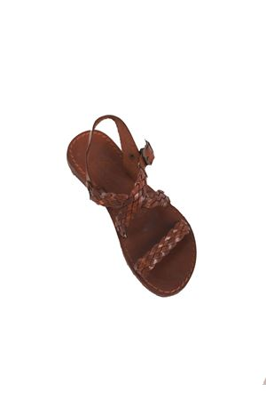 Brown basic Capri sandals  Cuccurullo | 5032256 | CUCTRECCIAXMARRONE