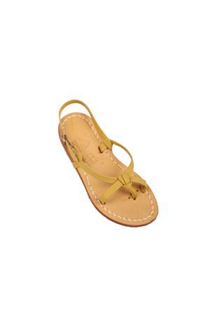 Yellow Capri sandals for girl  Cuccurullo | 5032256 | INCROCIOGIALLO
