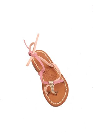 Pink slave Capri sandals for girls Cuccurullo | 5032256 | SCHIAVABABYROSA