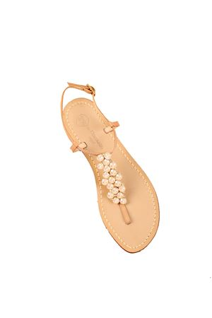 Nude sand jewels sandals from da Costanzo capri shop  Da Costanzo | 5032256 | 14/ANUDE