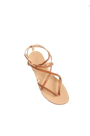 Brown Capri sandals with ankle closure  Da Costanzo | 5032256 | 2245CUOIO