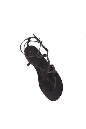 Black Capri sandals with cross on the feet Da Costanzo | 5032256 | 2245NERO