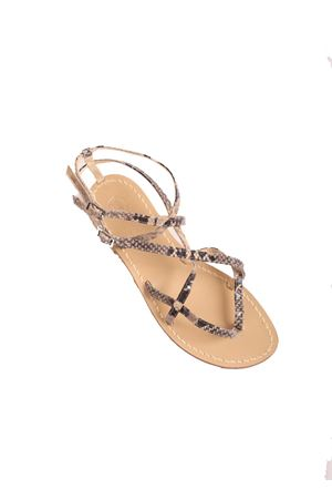 Python skin Capri sandals Da Costanzo | 5032256 | 2245PITONE