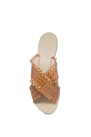 Brown sandals with braided leather  Da Costanzo | 5032256 | 2562MARRONE