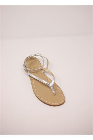 Sandali capresi artigianali infradito argento Da Costanzo | 5032256 | 2667/BRARGENTO