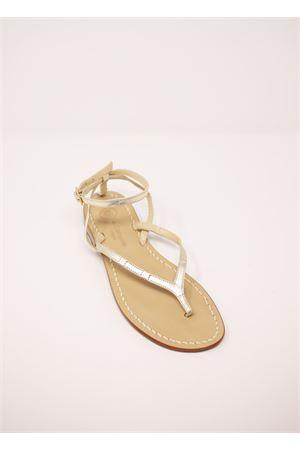 Platinum Capri sandals flip flop style  Da Costanzo | 5032256 | 2667/BRPLATINO