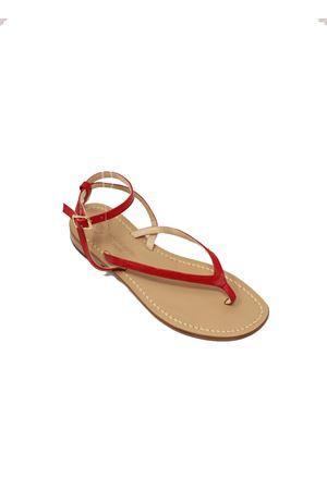 Red Capri sandals  Da Costanzo | 5032256 | 2667/BRROSSO