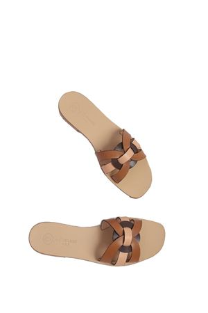 Brown handmade sandals non flip flop model Da Costanzo | 5032256 | 2770MARRONE