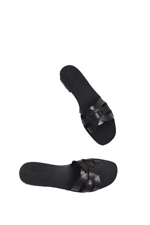Black handmade sandals non flip flop model  Da Costanzo | 5032256 | 2770NERO