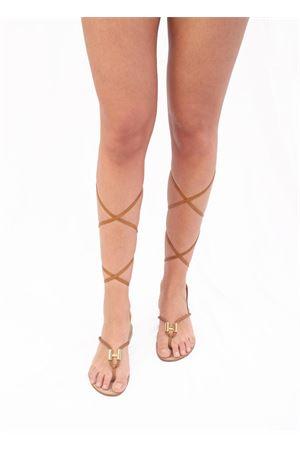 Sandali Capresi artigianali modello schiava Da Costanzo | 5032256 | 2771/LMARRONE