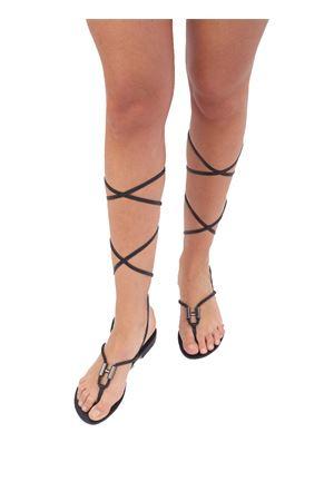 Sandali Capresi artigianali modello schiava Da Costanzo | 5032256 | 2771/LNERO