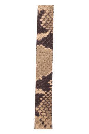 Skin python 3 bands Capri sandals  Da Costanzo | 5032256 | 3FASCEBEIGEPITONE